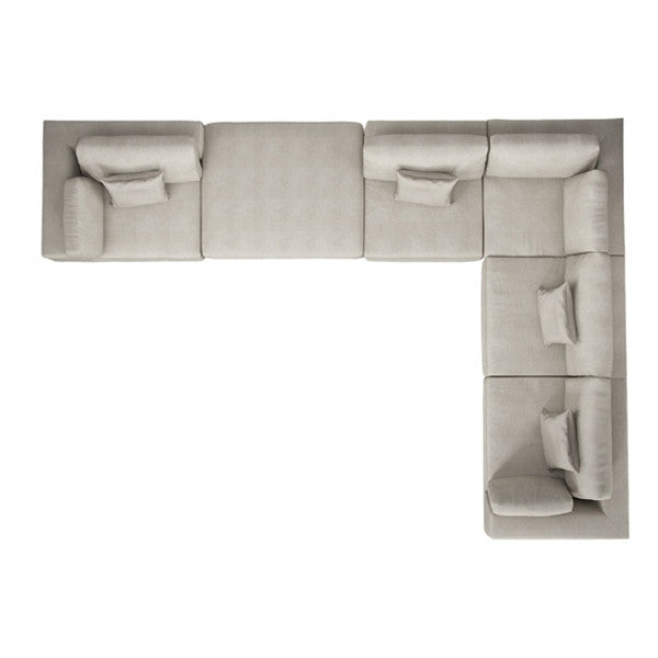 Modloft Perry L Sectional Sofa with Ottoman