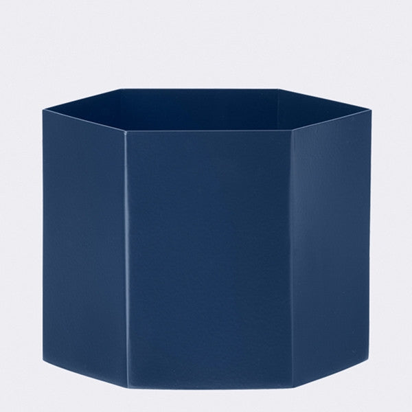 ferm LIVING - Hexagon Pot - Blue - Xlg