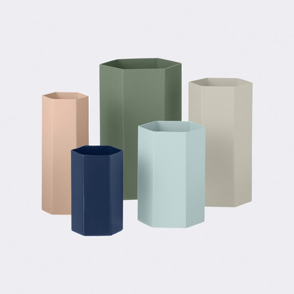 ferm LIVING Hexagon Vase Rose