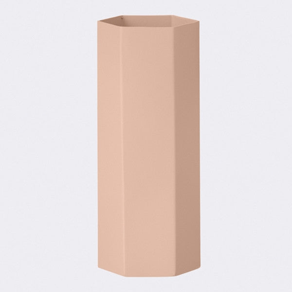 ferm LIVING - Hexagon Vase - Rose