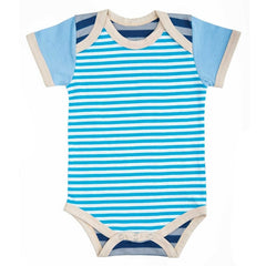 FARM BUDDIES - Surfer Chick -Blue / Gray - Onesie (3-6M)