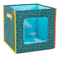 Lug Hide 'N Seek Storage Cube Aqua Elephant