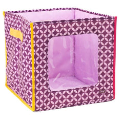 Lug - Hide 'N Seek Storage Cube Plum Owl