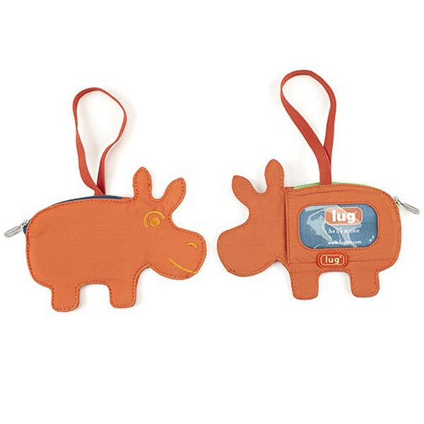 Lug - Peekaboo Bag Tag Sunset Hippo