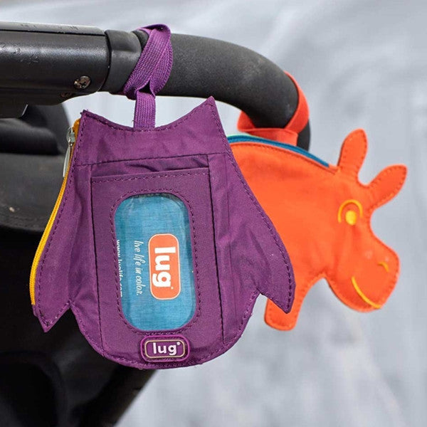 Lug Peekaboo Bag Tag Sunset Hippo