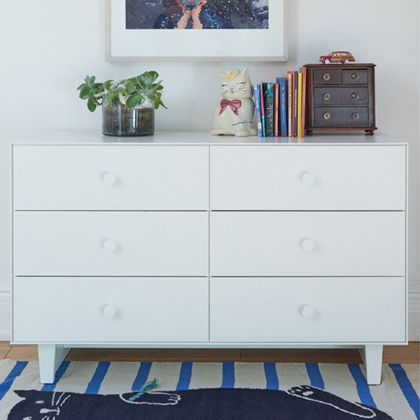Oeuf Merlin 6 Drawer Dresser With Sparrow Base White