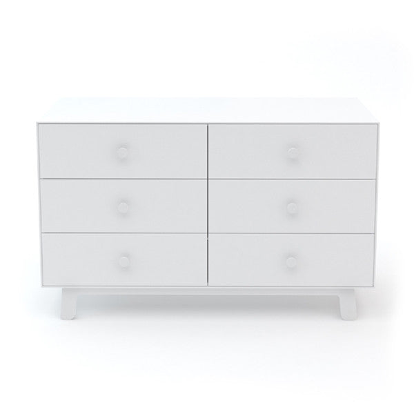 Oeuf Merlin 6 Drawer Dresser With Sparrow Base - White