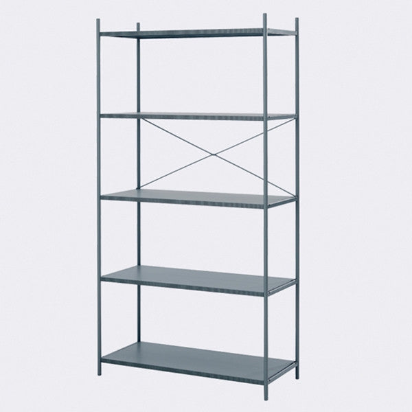 ferm LIVING Punctual Shelving System Dark Blue 1x5