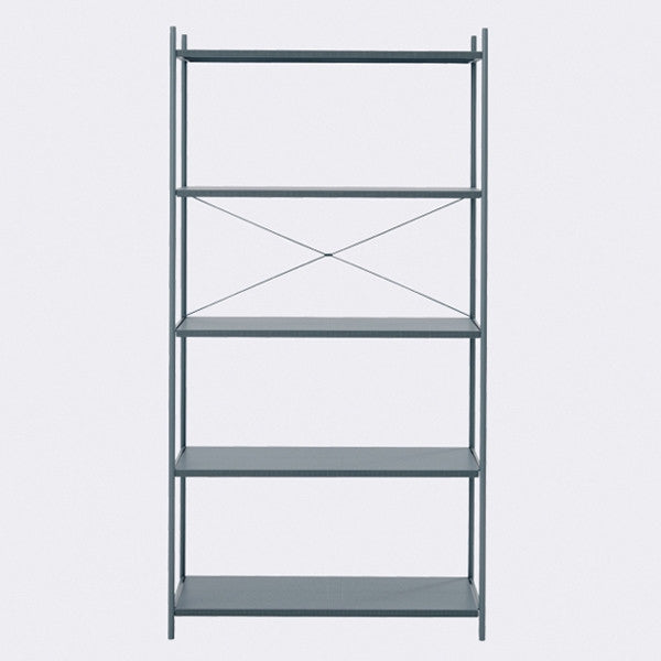 ferm LIVING - Punctual Shelving System - Dark Blue-1x5