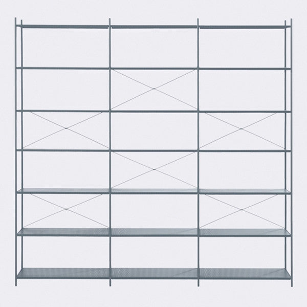 ferm LIVING - Punctual Shelving System - Dark Blue-3x7