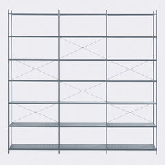 ferm LIVING Punctual Shelving System Dark Blue 3x7