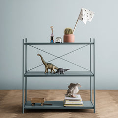 ferm LIVING Punctual Shelving System Dusty Blue 1x3