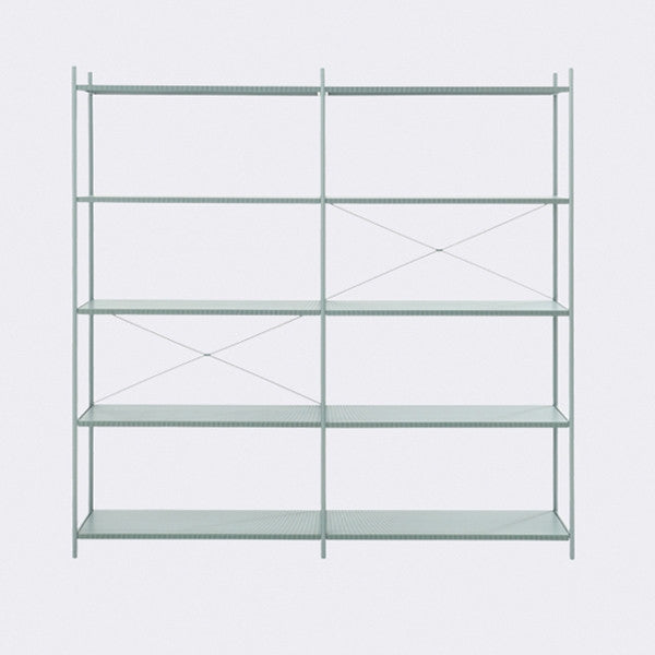 ferm LIVING - Punctual Shelving System - Dusty Blue-2x5