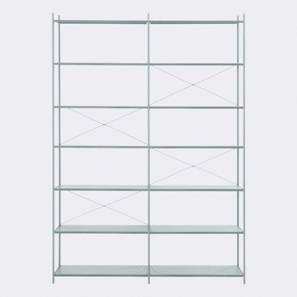 ferm LIVING - Punctual Shelving System - Dusty Blue-2x7