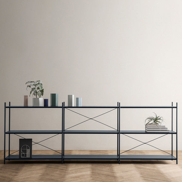 ferm LIVING Punctual Shelving System Dusty Blue 3x3