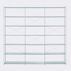 ferm LIVING Punctual Shelving System Dusty Blue 3x7