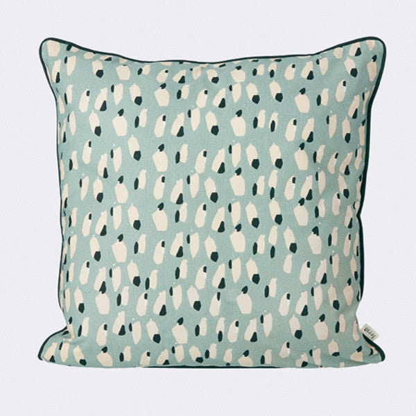 ferm LIVING - Spotted Cushion - Dusty Blue