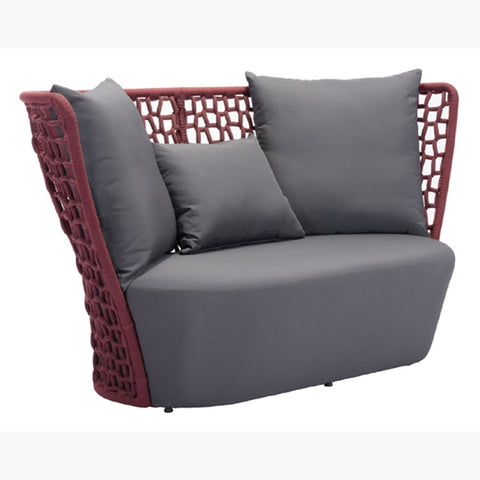Zuo - Faye Bay Beach Sofa Cranberry & Grey