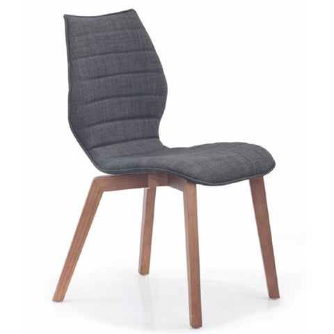 Zuo Aalborg Dining Chair Graphite Set of 2