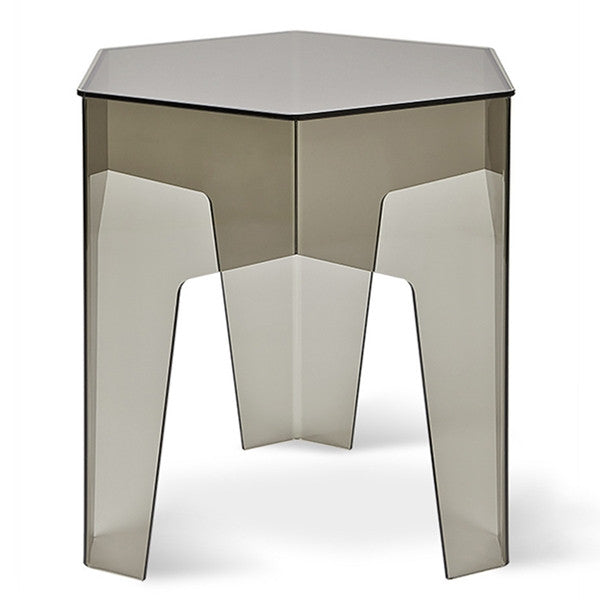 Gus* Hive End Table - Smoked Acrylic