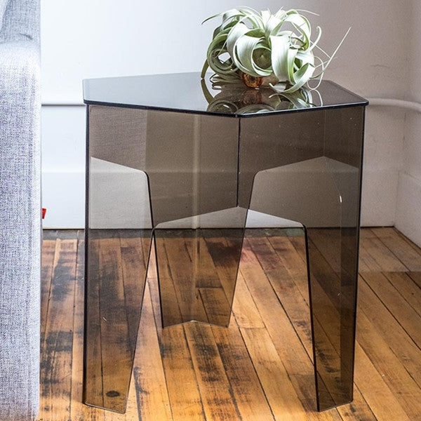 Gus* Modern Hive End Table Smoked Acrylic
