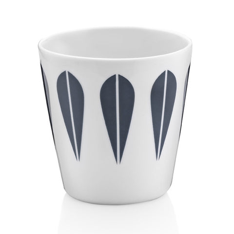 Lucie Kaas - Cup With Dark Blue Lotus Pattern