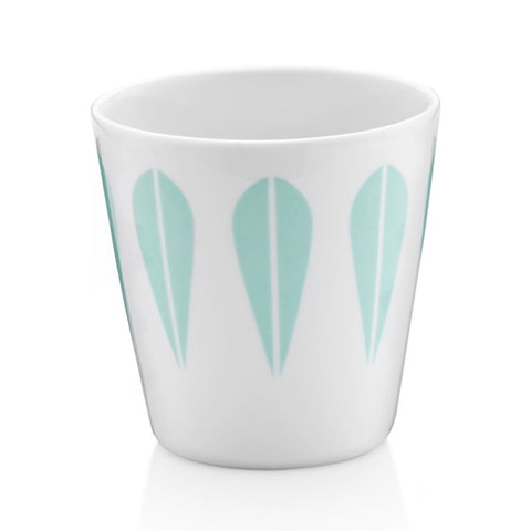 Lucie Kaas - Cup With Mint Green Lotus Pattern