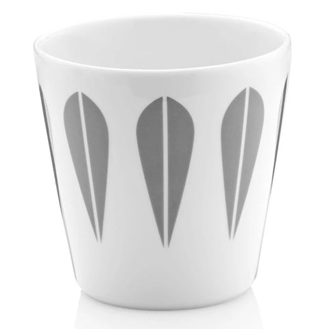 Lucie Kaas - Cup With Grey Lotus Pattern