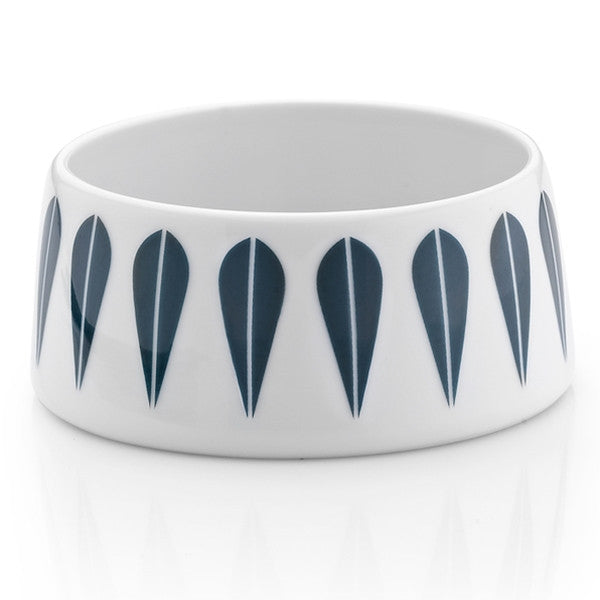 Lucie Kaas - Sugar Bowl With Dark Blue Lotus Pattern