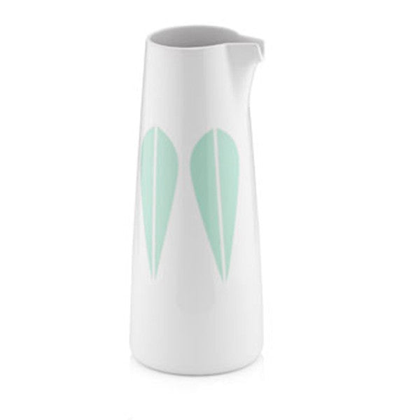 Lucie Kaas - Pitcher With Mint Green Lotus Pattern