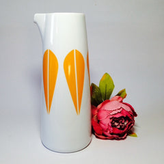 Lucie Kaas Pitcher With Orange Lotus Pattern