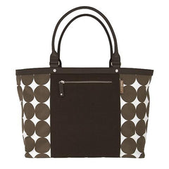 DwellStudio Diaper Tote - DOTS Chocolate