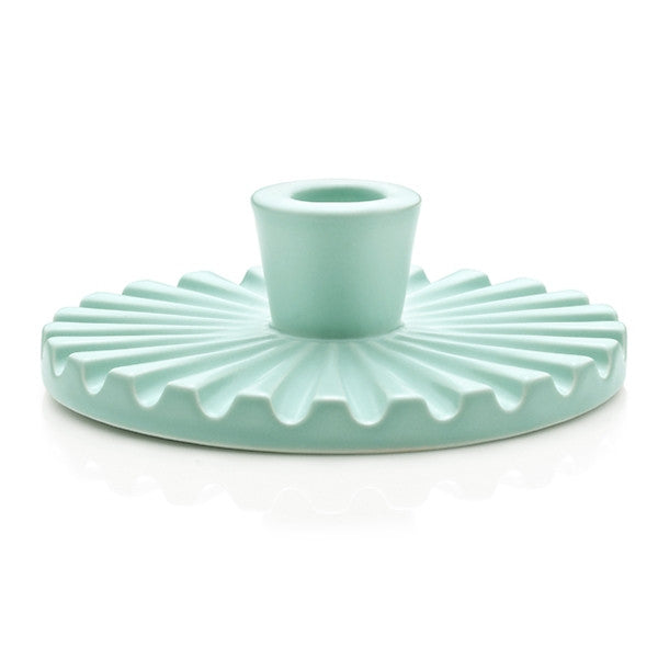 Lucie Kaas - Candle Holder, Ceramics, Mint Green