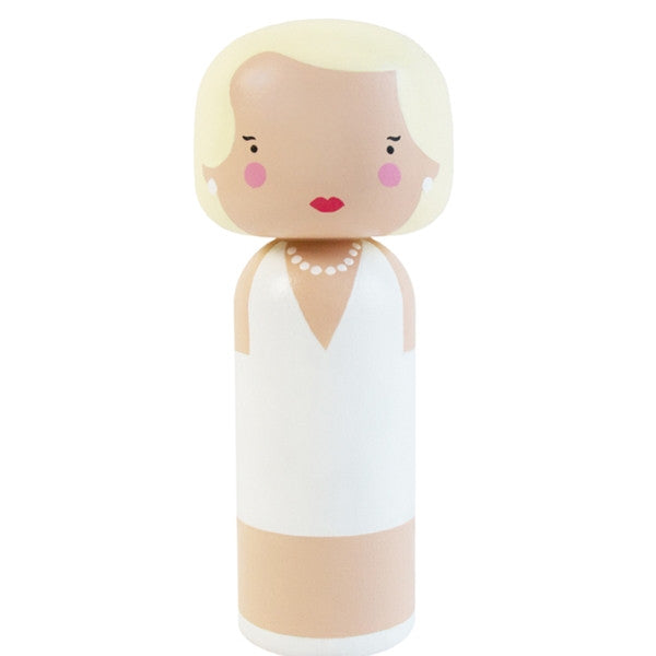 Lucie Kaas - Marilyn, Hand Painted Schima Superba Wood