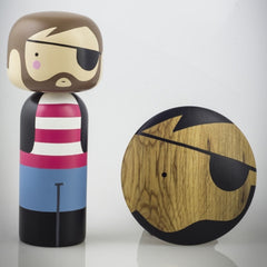 Lucie Kaas Pirate Hand Painted Schima Superba Wood