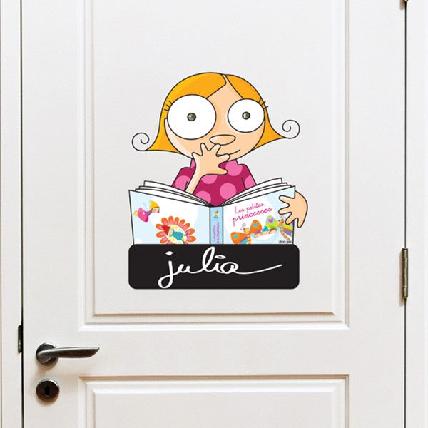 ADzif Wall Sticker Door Sign Girl