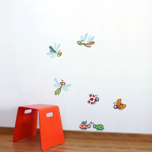 ADzif Wall Sticker Dragonflies and Ladybugs