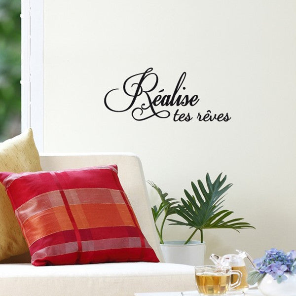 ADzif Wall Sticker Realise Tes Reves Fr
