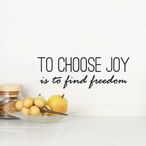 ADzif Wall Sticker To Choose Joy EN