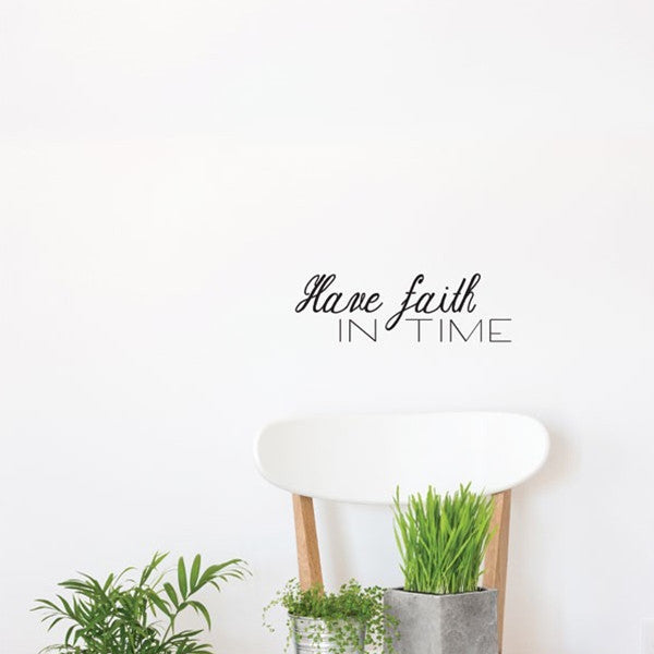ADzif Wall Sticker Trust Time EN