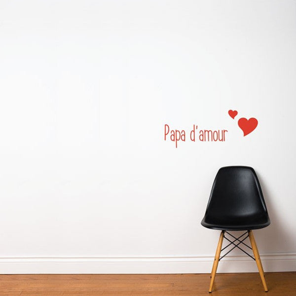 ADzif Wall Sticker Maman/Papa D'Amour Red