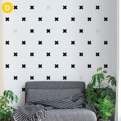 ADzif Wall Sticker Wooden Cross, Iron Cross