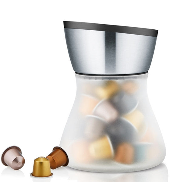 Blomus CADDY Coffe Capsule Storage Jar Glass