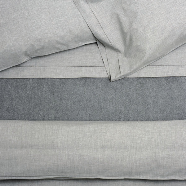 Area Bedding HEATHER Grey Duvet Cover- King