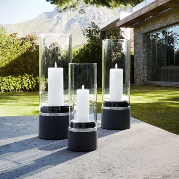 Blomus PIEDRA Lantern With Candle Glass