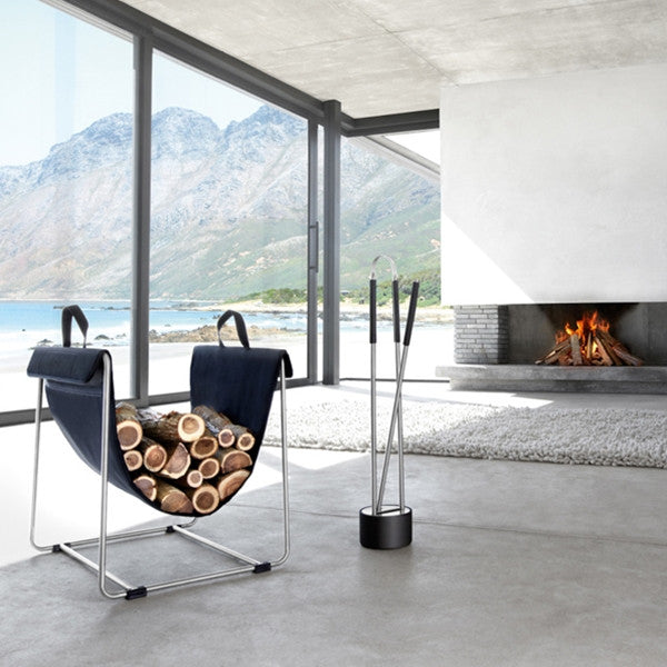 Blomus CANNETO 3 PC Fireplace Set Stainless Steel Matt
