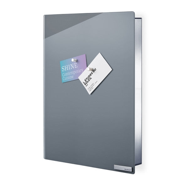 Blomus VELIO Key Box/Glass Magnet Board Grey 40 X 30 cm