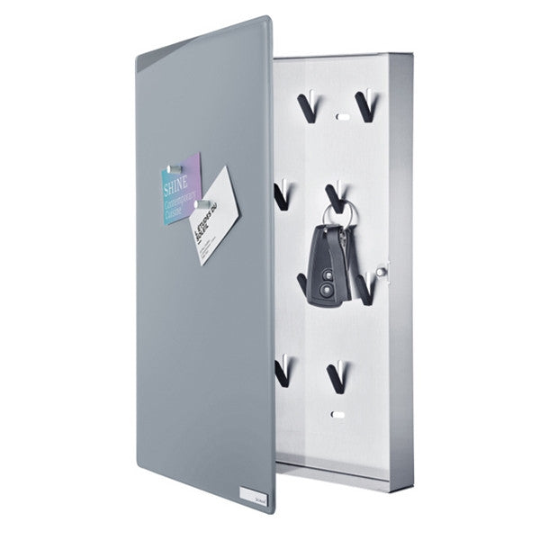 Blomus VELIO Key Box Glass Magnet Board Grey 40 X 30 cm