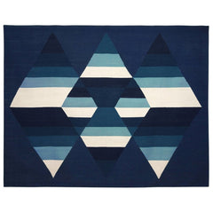 Aimée Wilder Prism Indigo Three Diamond Rug