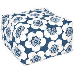 Aimée Wilder Pop Floral Ink Pouf